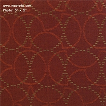 """Plait - Sangria"" Durable Upholstery with Circle Design from Maharam Fabric Co"