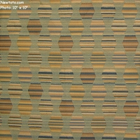 """Polygon - Moon River"" Geometric Stripe Fabric for Upholstery from Designtex�"