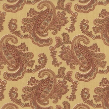"""Pretty - Paisley"" Gold Terracotta Paisley Print Fabric from P Kaufmann, Inc"