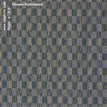 """""""Query - Bay"""" Square Checker Upholstery Fabric from Momentum Textiles"""