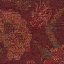 """Frangelica - Merlot"" Lovely Red Floral Upholstery Fabric by Robert Allen"
