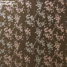 """Reese - Mink"" Embroidered Faux Dupioni Silk Drapery Fabric"