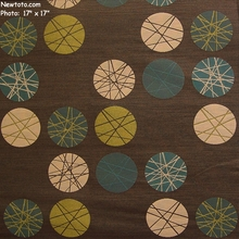 """Revolve - Espresso"" Durable Circle and Line Upholstery Fabric from Momentum Textiles"