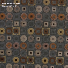 """Ring Toss - Fudge"" Geometric Square and Circle Upholstery Fabric from Architex� International"