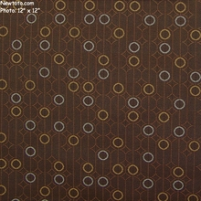 """Ringling - Truffle"" Circle and Line Fabric for Upholstery from Arc-Com Fabrics, Inc"