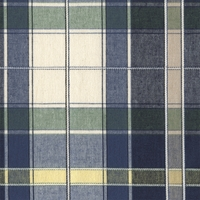 """Dylan - Sunblue""  Blue Green Plaid Designer Decor Fabric from Robert Allen"