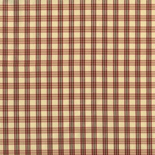 """Silk Taffeta - Wisdom"" Red and Beige Silk Plaid Drapery Fabric for Decor"