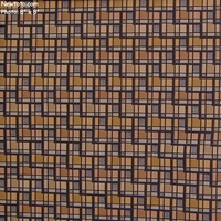 """Skyline - Brownstone"" Durable Geometric Designer Upholstery Fabric from Unika Vaev Fabrics"