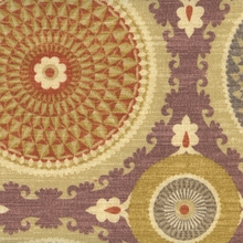 """Bohemian Swirl - Mulberry"" Designer Suzani Fabric Print for Decor from Waverly"