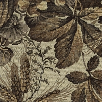"""Full Sun - Arrangement"" Vintage Floral Tapestry Fabric for Upholstery"