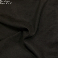 """Taro - Obsidian"" Solid Black Microfiber Suede Fabric for Upholstery"