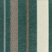 """Mellissa - Powder""  Rich Teal Stripe Chenille Upholstery Fabric by Kalin Fabrics"
