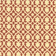 """Soulmate - Chile"" Terracotta Lattice Fabric for Designer Prints by Waverly"