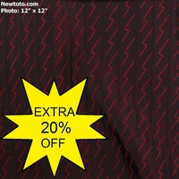 """Titan - Red"" Satin and Chenille Matelass� Fabric for Upholstery"