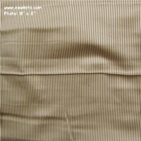 """Toltec - Sun"" Satiny Drapery Fabric with Small Stripes"