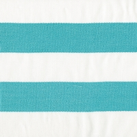 """Beach House - Teal"" Fun Bold Turquoise Blue and White Striped Decor Fabric"