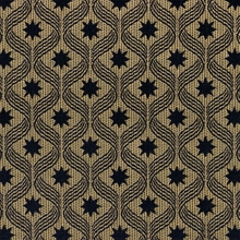"""Umberto - Black Star"" Gold Modern Luster Fabric for Home Decor Upholstery"