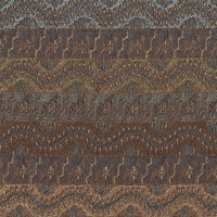 """""""Earth - Azure"""" Decorative Multi Color Striped Fabric for Upholstery"""