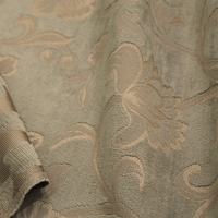 """Veranda - Quartz"" Taupe Floral Chenille Designer Fabric (Dye Lot 1) from Versailles (AS IS)"