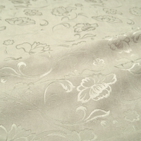 """Veranda - Steel"" Platinum Floral Chenille Upholstery Decor Fabric from Versailles"