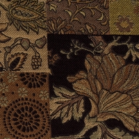 """Cosette - Vintage"" Luster Floral Patch Design for Upholstery Fabric"