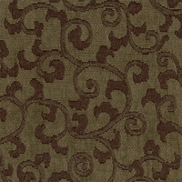 """Visage - Hazel"" Moss Green Scroll Chenille Fabric for Home Decor by Versailles"