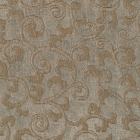 """Visage - Quartz"" Taupe Home Decor Fabric with Chenille Scrolls by Versailles"