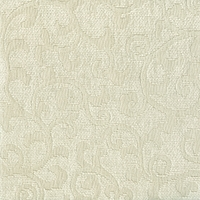 """Visage - Steel"" Platinum Scroll Chenille Upholstery Decor Fabric from Versailles"
