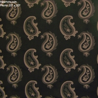"""Vogue - Black"" Large Paisley Designer Upholstery Fabric from Architex� International"