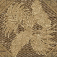 """West Palm - Burlap"" Tan Tropical Leaf Botanical Fabric Decor and Upholstery"