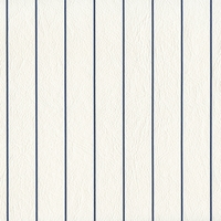 """Unicorn - Blue Pinstripe"" White Vinyl Fabric from Deitsch Plastic Co., Inc"