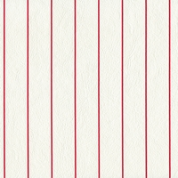 """Unicorn - Red Pinstripe""  White Flannel Back Vinyl by Deitsch Plastic Co., Inc"