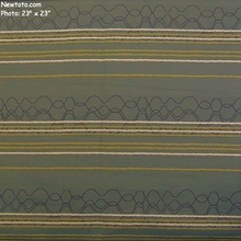"""Wiggle Room - Coach Sets"" Large Stripe Fabric for Upholstery from HBF Textiles"