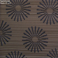 """Wonder Wheel - Gunmetal"" Upholstery Fabric with Flower Pedals and Stripes from Pallas� Textiles"