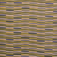"""Wrap - Color 005"" Colorful Vinyl Stripe Upholstery Fabric from Maharam Fabric Co"