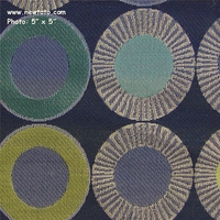 """Yo-Yo - Sapphire"" Circle Design Fabric for Upholstery from Arc-Com Fabrics, Inc"