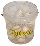 18 Wilson A1010S Baseballs with Clear Bucket BLEM