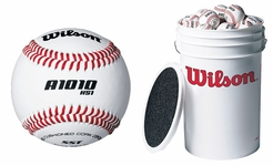 3 Dozen Wilson A1010S Blem Baseballs with 1 Bucket and Padded Seat