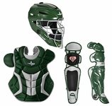 All-Star Green/Silver Adult System 7 Professional/College Catcher's Gear Set CKPRO1