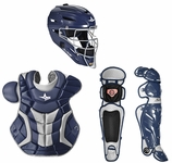 All-Star Navy/Silver Adult System 7 Professional/College Catcher's Gear Set CKPRO1 Ships 01-01-17