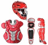 All-Star Red/Silver Adult System 7 Professional/College Catcher's Gear Set CKPRO1 Ships 01-01-17