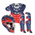 All-Star Red/White and Blue America Adult System 7 Professional/College Catcher's Gear Set CK912S7_USA