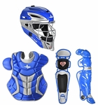 All-Star Royal/Silver Adult System 7 Professional/College Catcher's Gear Set CKPRO1