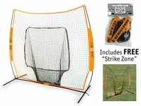 """Bownet Big Mouth Portable 7 x 7 Hitting Net with FREE """"Strike Zone"""""""