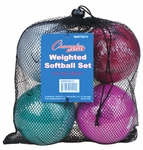 Champion Sports Weighted Training Softballs SBWTSET4 4-pack