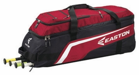 Easton Black/Red Brigade Wheeled Bat Bag A163136