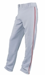 Easton Adult Grey/Red Rival Piped Pants A164561