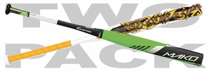 Easton Mako Torq Brett Helmer SP16MBA and Combat Casey Rogowski TCRSP4 (2016) 2-PACK