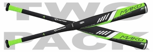 Easton Mako XL Youth Bat -10oz YB16MK10 (2016) - 2-PACK
