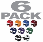 Easton Natural Grip Two Tone Adult Batting Helmets - 6-Packs